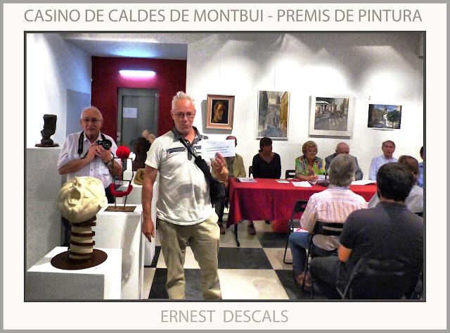 CALDES DE MONTBUI-PINTURA-CASINO-PREMIS-CONCURS-CATALUNYA-ARTISTA-PINTOR-ERNEST DESCALS-
