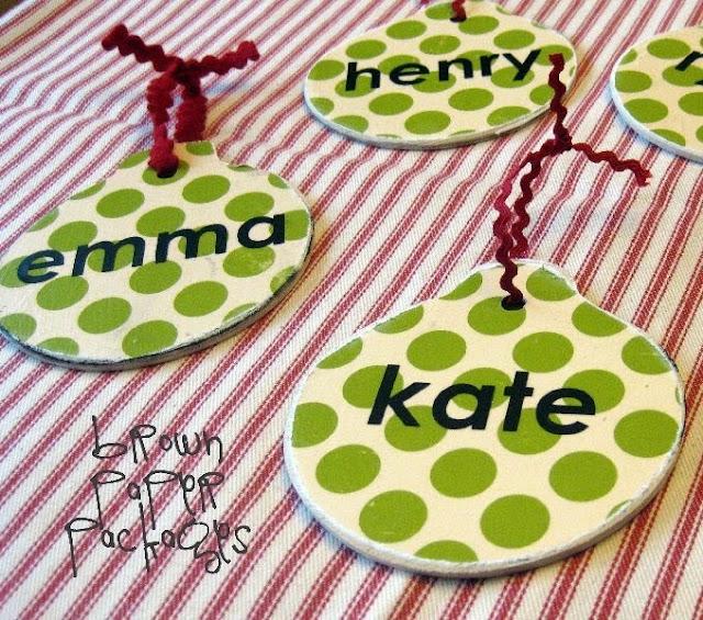Diy Christmas Name Ornaments: Name Tag Ornaments