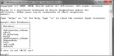 114 MySQL dengan menggunakan Command Prompt (CMD)