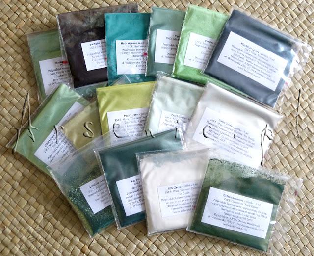 Pigmenty mineralne - zielenie!