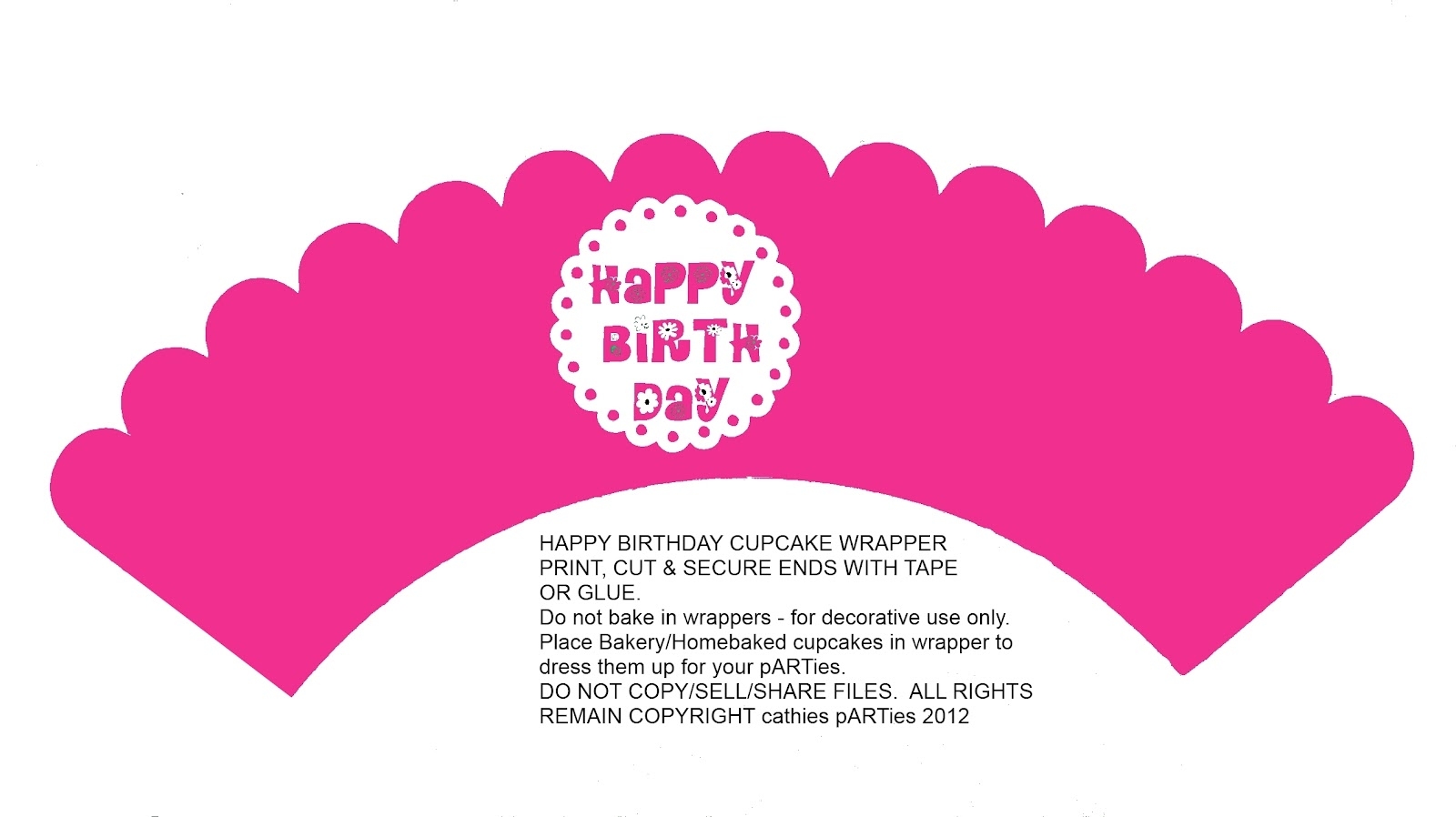 Cathies parties printables for Giant cupcake liner template