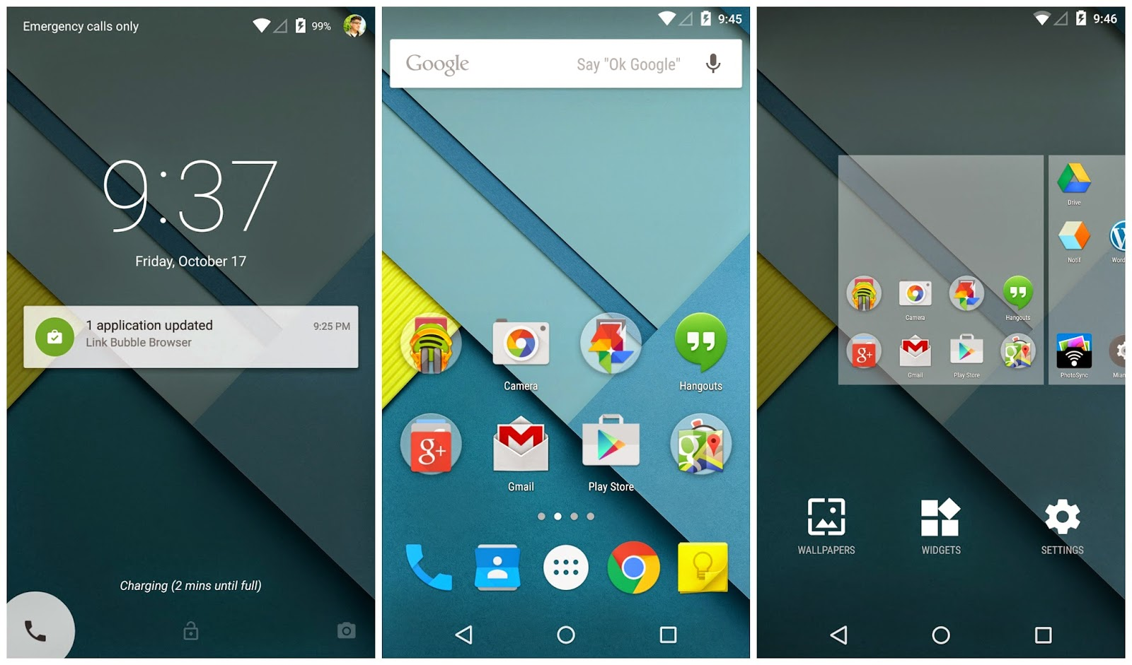 Android 5 interface