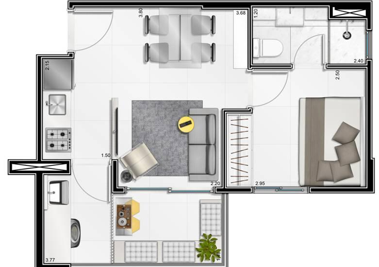 planta apartamento augusta
