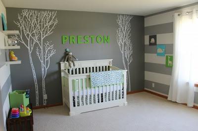 dormitorio bebé paredes gris