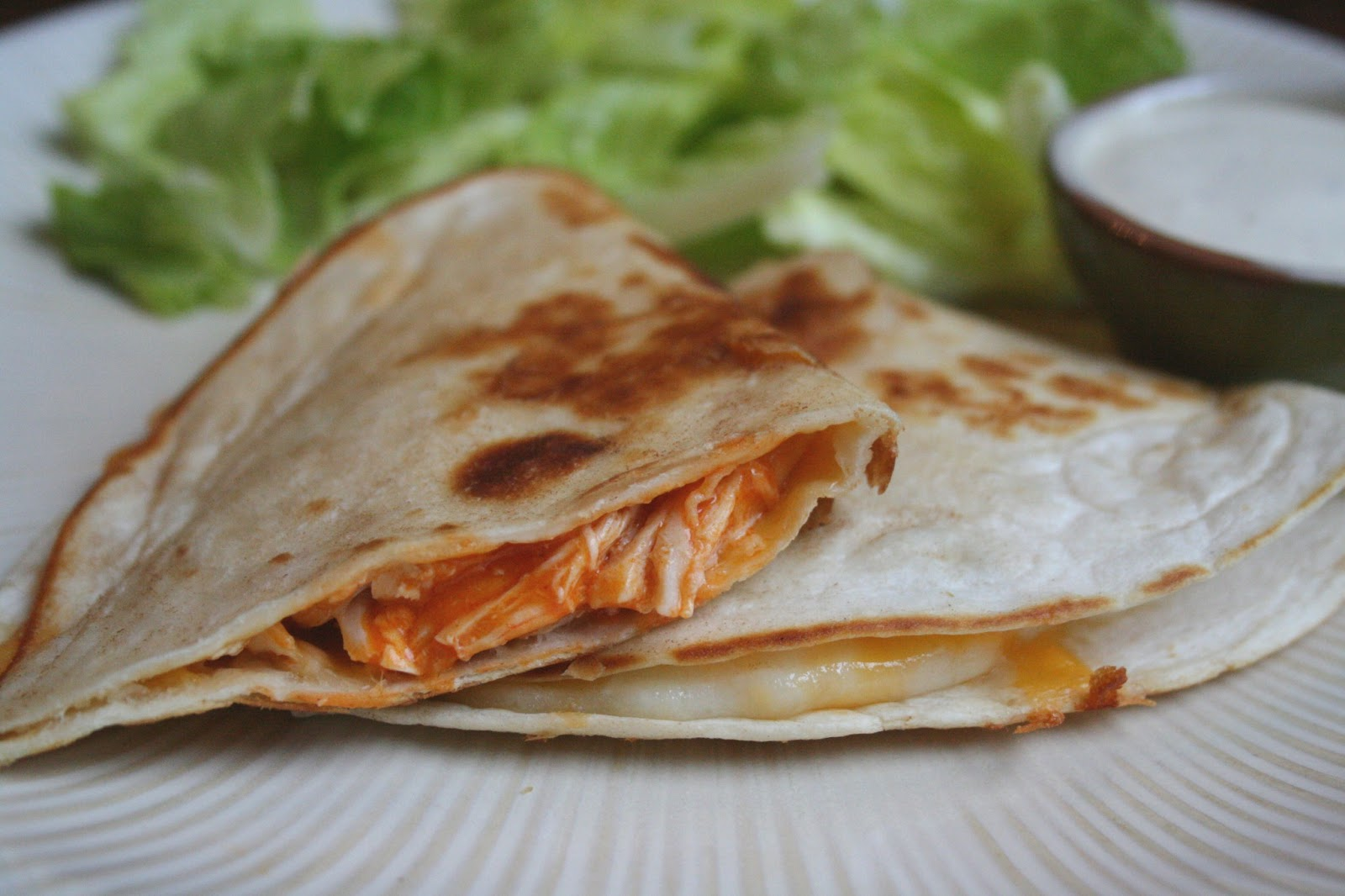 The Nesting Corral: Buffalo Chicken Quesadillas