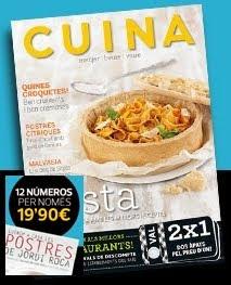 """OFERTA REVISTA """"CUINA"""" , solo para mis seguidores!!!! con un libro de Jordi Roca de REGALO"""