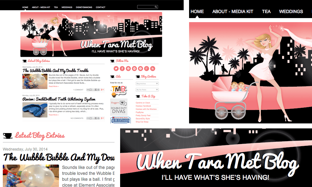 when tara met blog template design blogger sit sunset mom pink