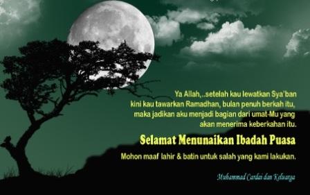 kartu Ucapan Ramadhan dan iedul fitri