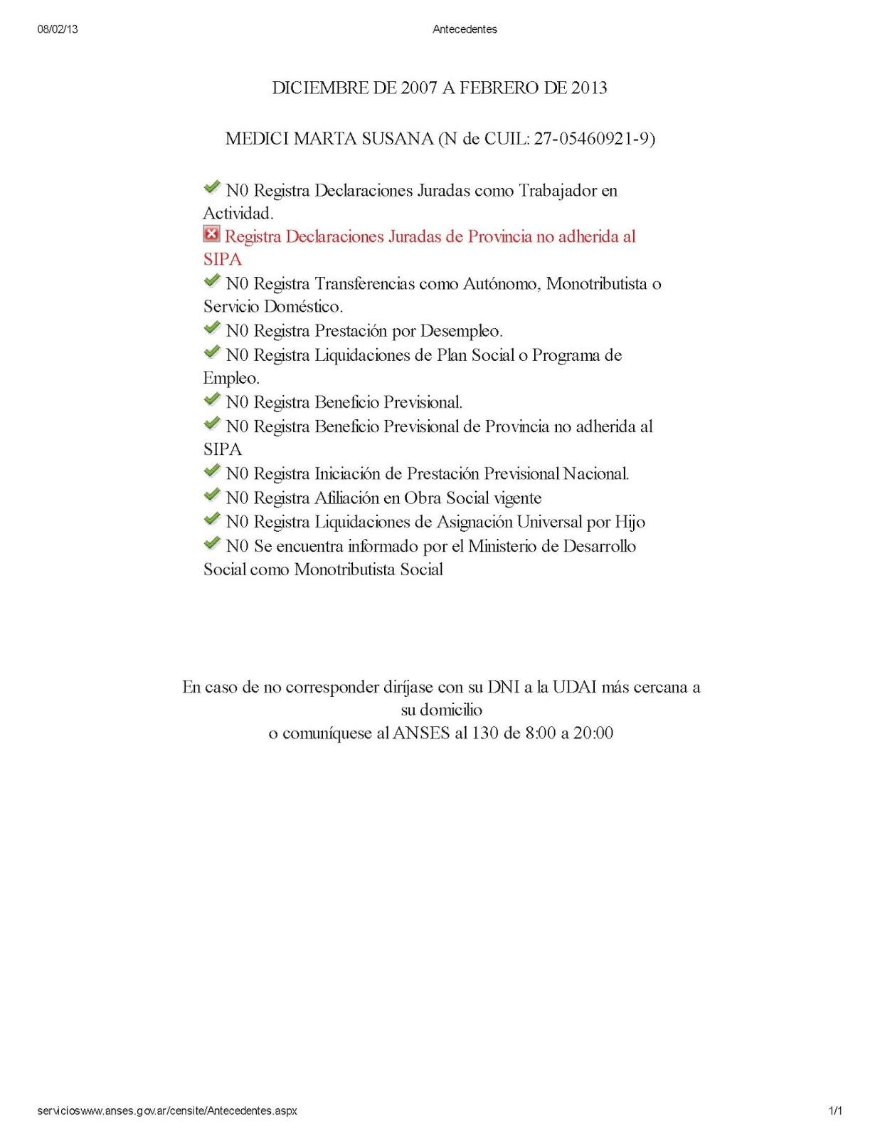 Certificacion Negativa Medici Intendente Alberti