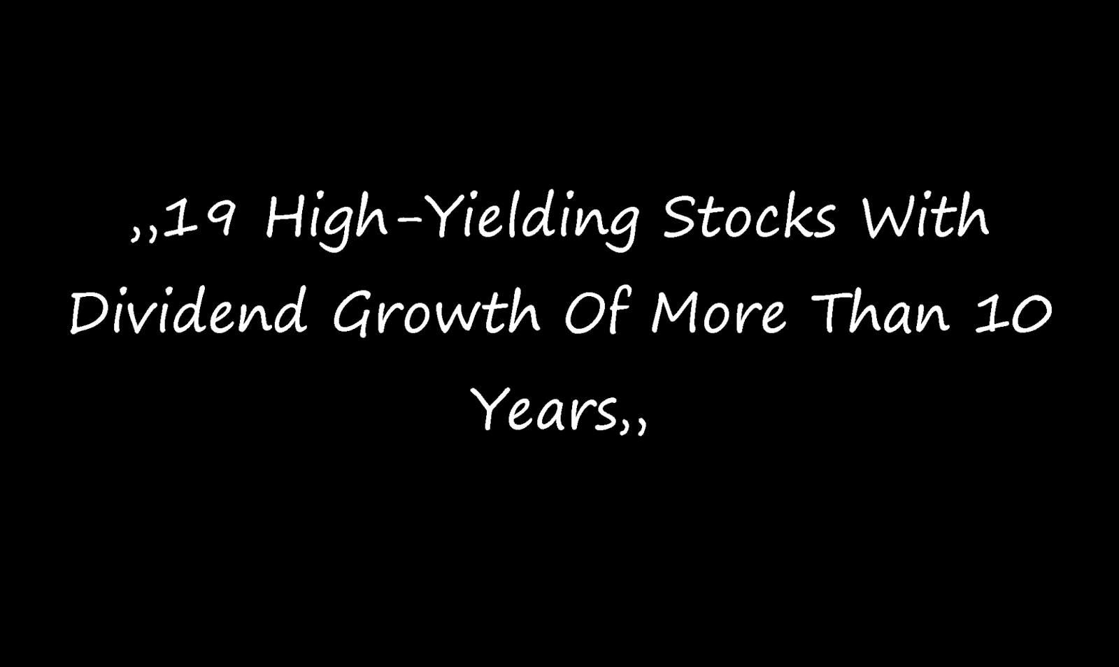 Dividend yield stock capital investment 19 high - High div stocks ...