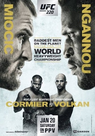 Poster Of UFC 220: Miocic vs. Ngannou 20th January 2018 HDTV 480P 300MB
