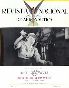 Revista Nacional de Aeronáutica - 1950 antecesora de la revista Aeroespacio.