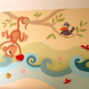 Decopared mayo 2012 for Paredes infantiles pintadas