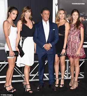 Sylvester Stallone avec ses filles