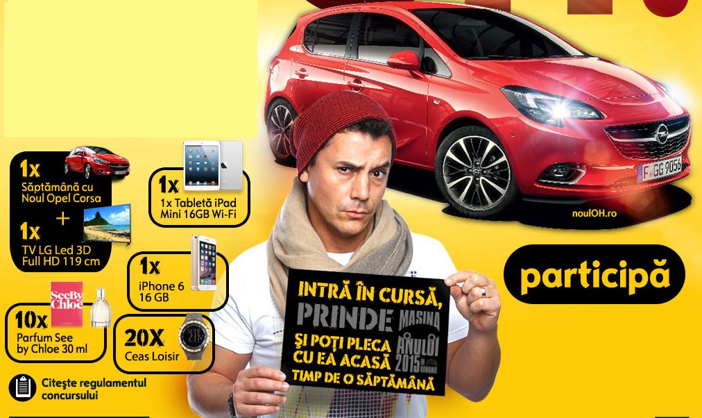 Prinde-o pe Corsa pe www.prindeohpecorsa.ro și câștigă o săptămână de vis în această mașină