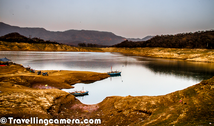 FROZEN MOMENT - Here is a Photograph from my recent visit to Himachal during Holi vacations. While going to Hamirpur from Delhi, this lake comes on the way near Una and known as Govind Sagar Lake which is a part of Satluj River. This lake was created during initiation of Bhakhra Hydro Project. Although this lake has snatched land of many folks around the place, but at the same time they have got new opportunities to earn their livings. More photographs of Govind Sagar Lake can be checked - HERE