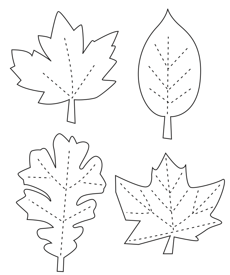 Leaf template to write on – Leaf Template for Writing