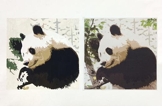 横浜美術学院の中学生教室 美術クラブ 写真から学ぶ!「アクリルガッシュで色面分割」9