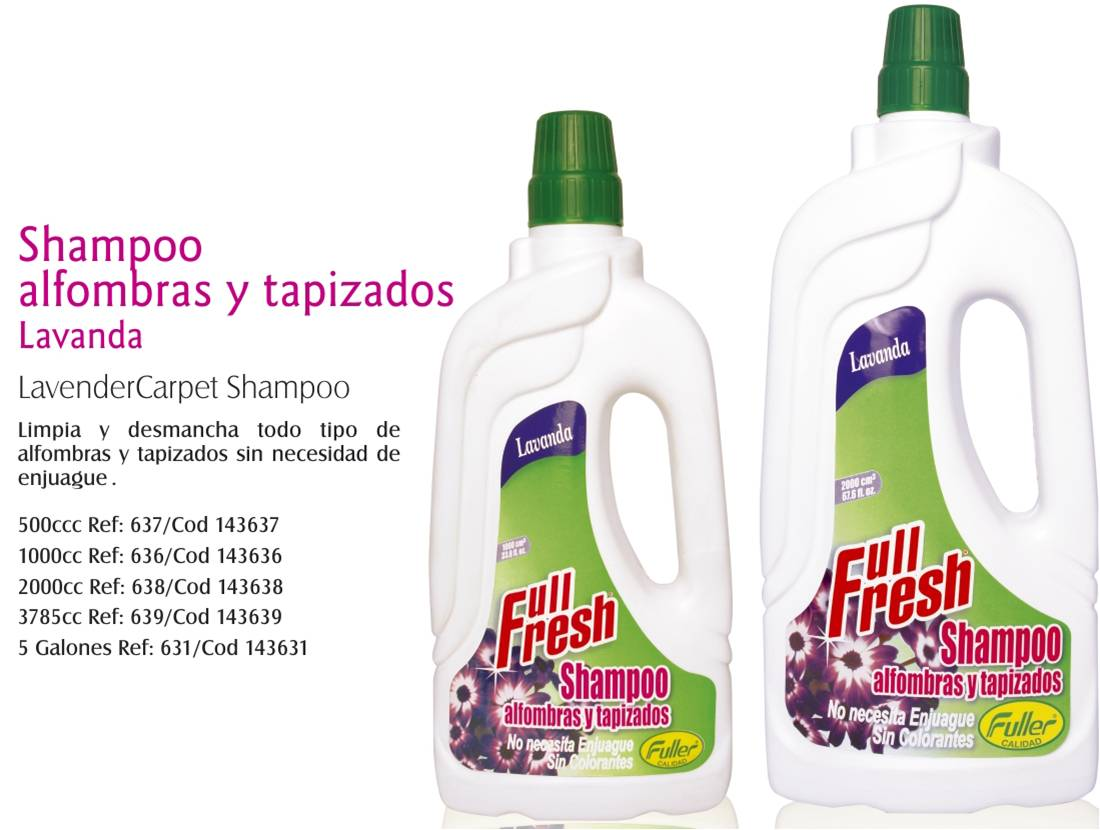 Fuller 72 shampoo para alfombras y tapizadosfuller 72 - Productos para limpiar tapizados ...