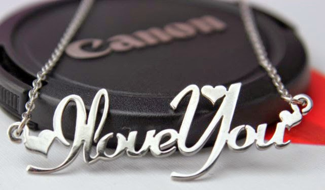 Dây chuyền mặt chữ Love  You bằng bạc
