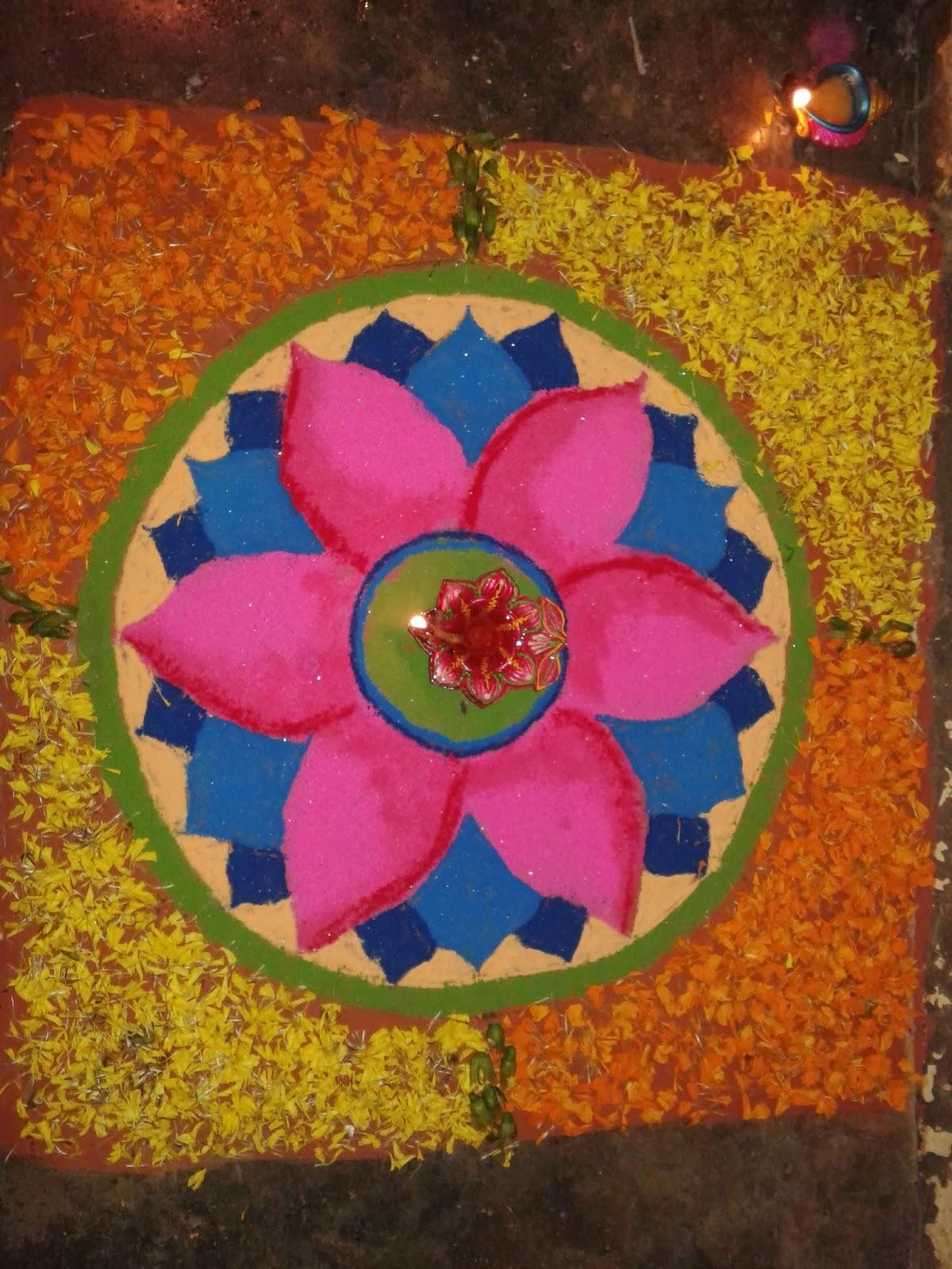 My rangoli designs for Home rangoli designs