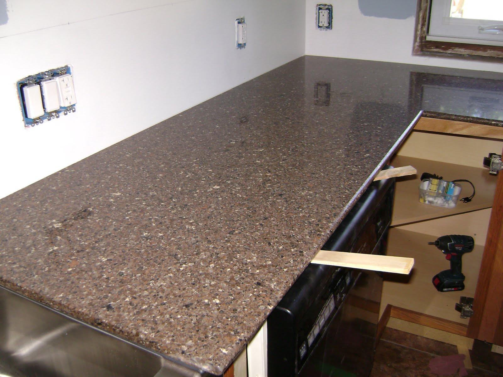 Updating: Countertops installed - Silestone, Sierra Madre