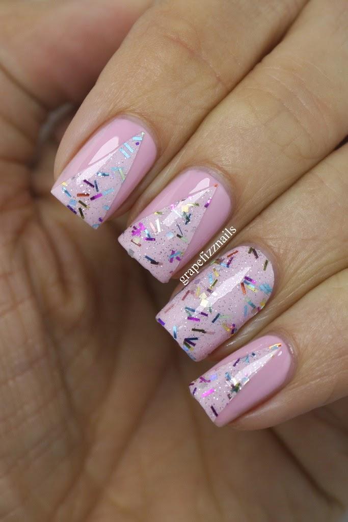 Grape Fizz Nails: Incoco Nail Polish Applique, Sweet Surprise