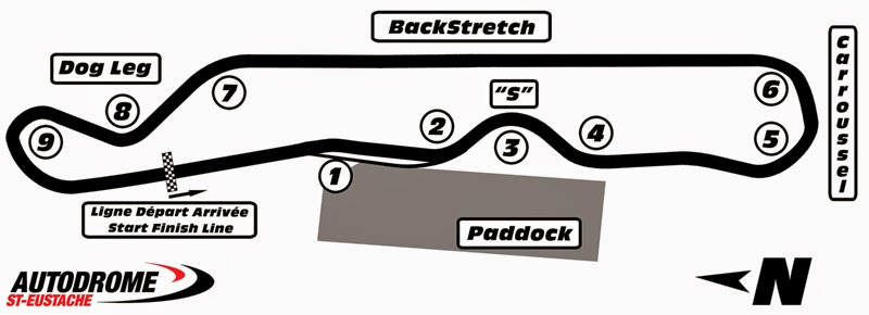 St Eustache Racetrack Map Layout