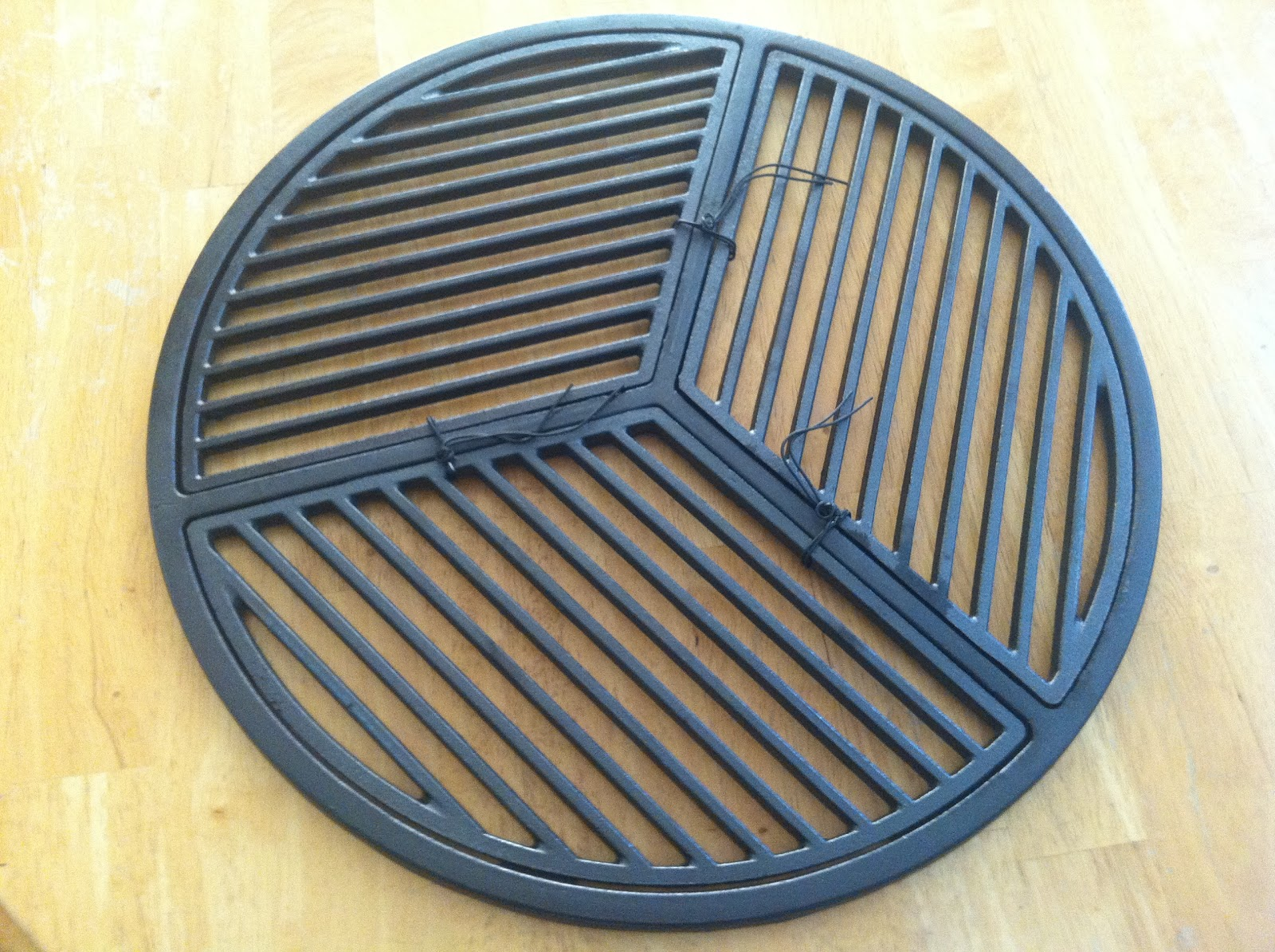 how to clean cast iron bbq grates