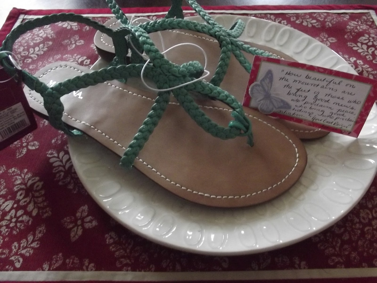 13 And My Last Gift Was A Pair Of Sandals That She Really Wanted I Tied It In With The Following Scripture