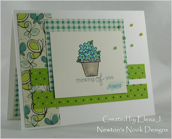 Thinking of you Flower Card by Elena J. for Newton's Nook Designs | Versatile Vases