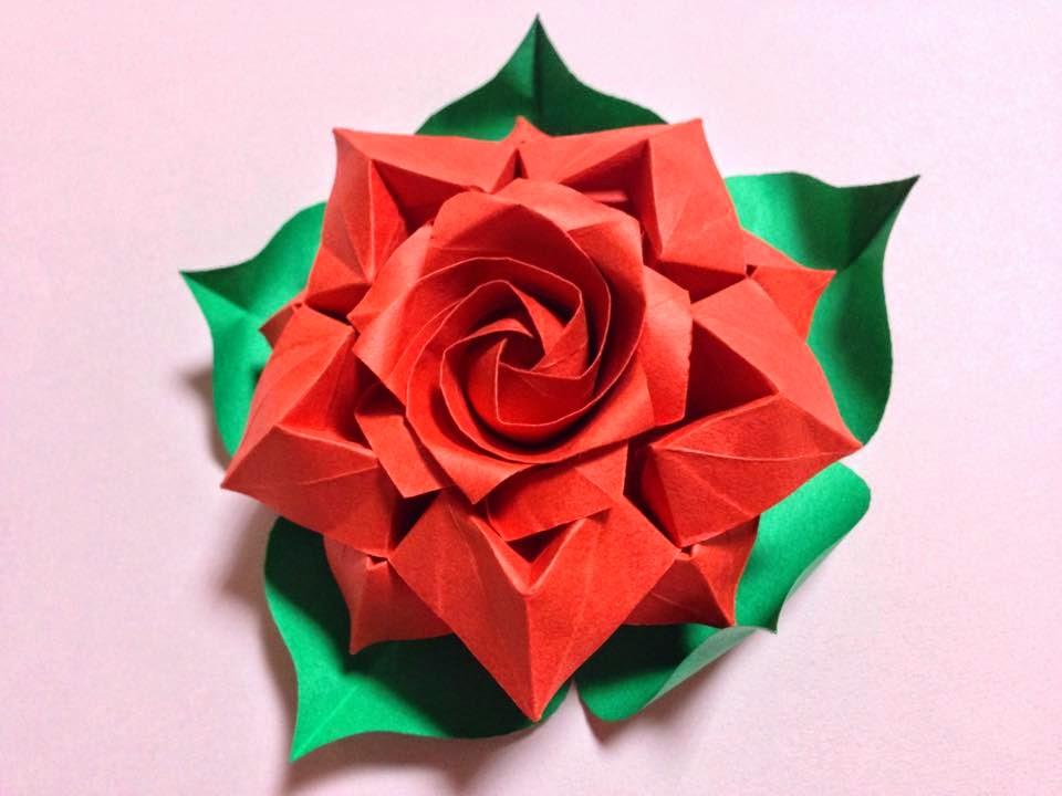 Origami Maniacs: Beautiful Rose by Masahiro Ichikawa - photo#4