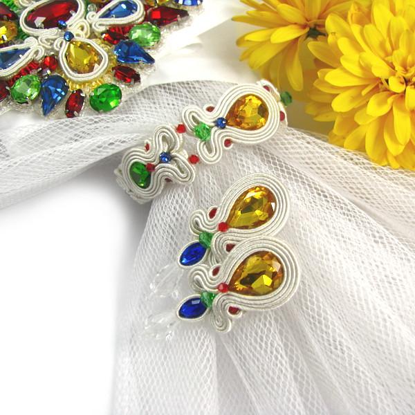 delikatna folkowa biżuteria ślubna