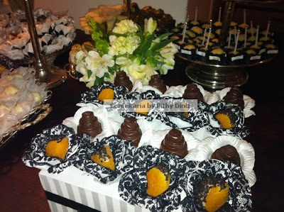 pb1 Festa Black & White + Mesa de doces Confeitaria