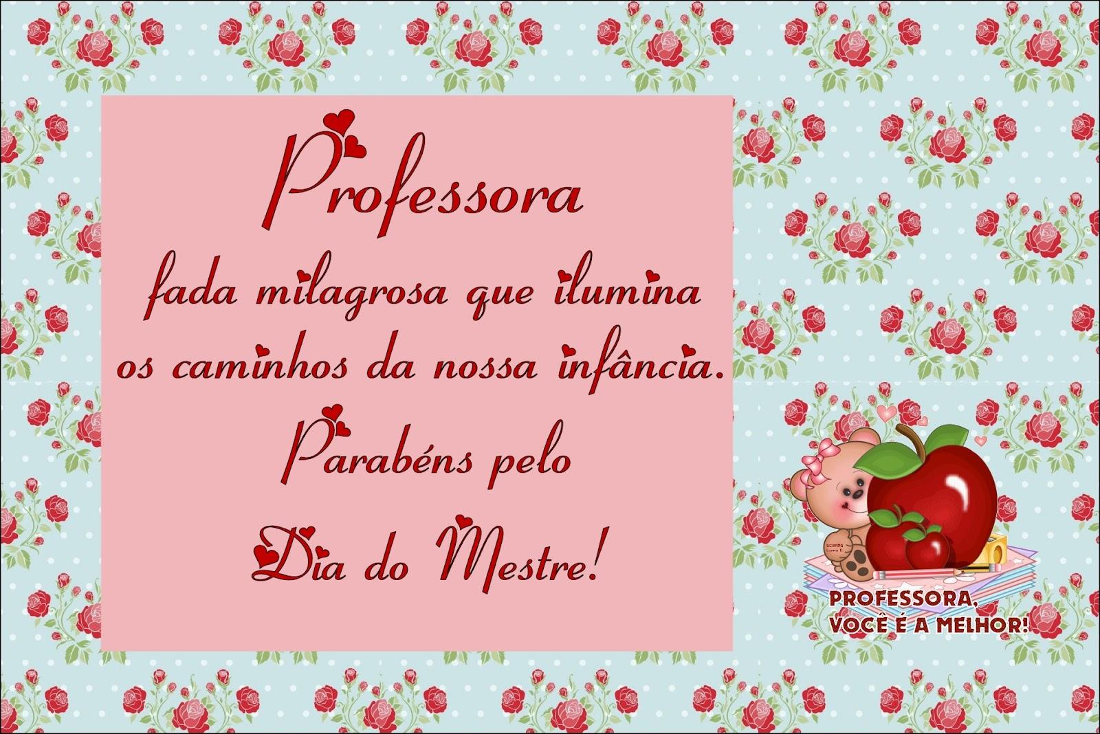 Amado Cartão para o dia do Professor com Mensagem! FD25