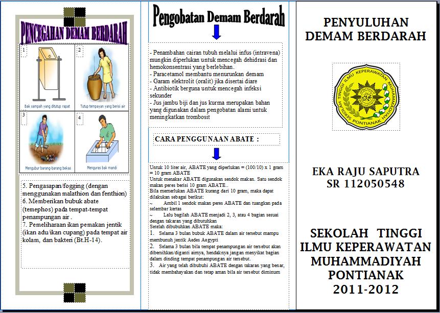 Anira Forever Contoh Leaflet Dbd Demam Berdarah Dengue