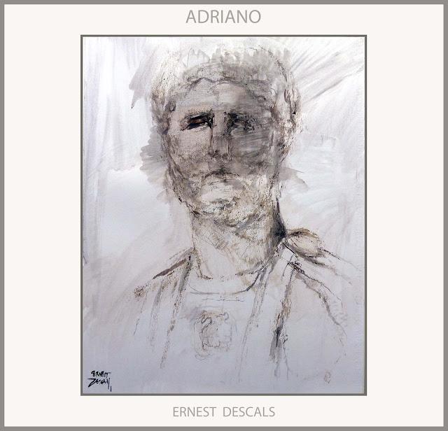 ADRIANO-ROMA-ARTE-PINTURA-EMPERADOR-ROMA-MURO-EMPERADORES-PINTURAS-HISTORIA-IMPERIO ROMANO-ARTISTA-PINTOR-ERNEST DESCALS-