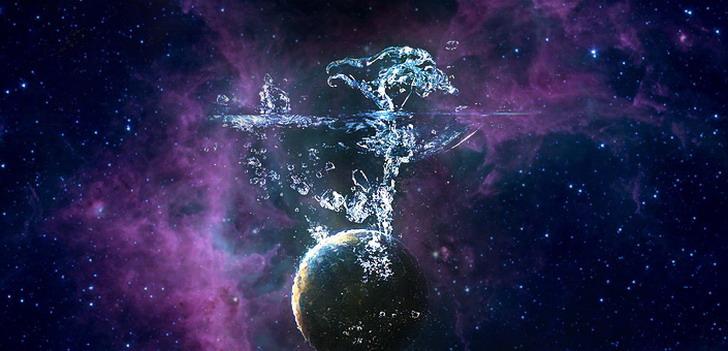 Agua y aire en el espacio