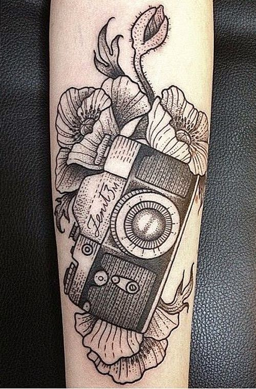 ♥ ♫ ♥ Awesome Camera Tattoo ♥ ♫ ♥