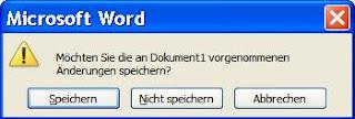 Speichern-Dialog in Word unter Windows XP