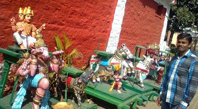 Small chariots near Kaadu malleshwara temple