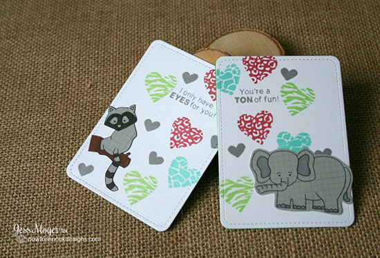 Mini Zoo Valentine Cards by Jess Moyer | Newton's Nook Designs | Wild about Zoo Stamp Set