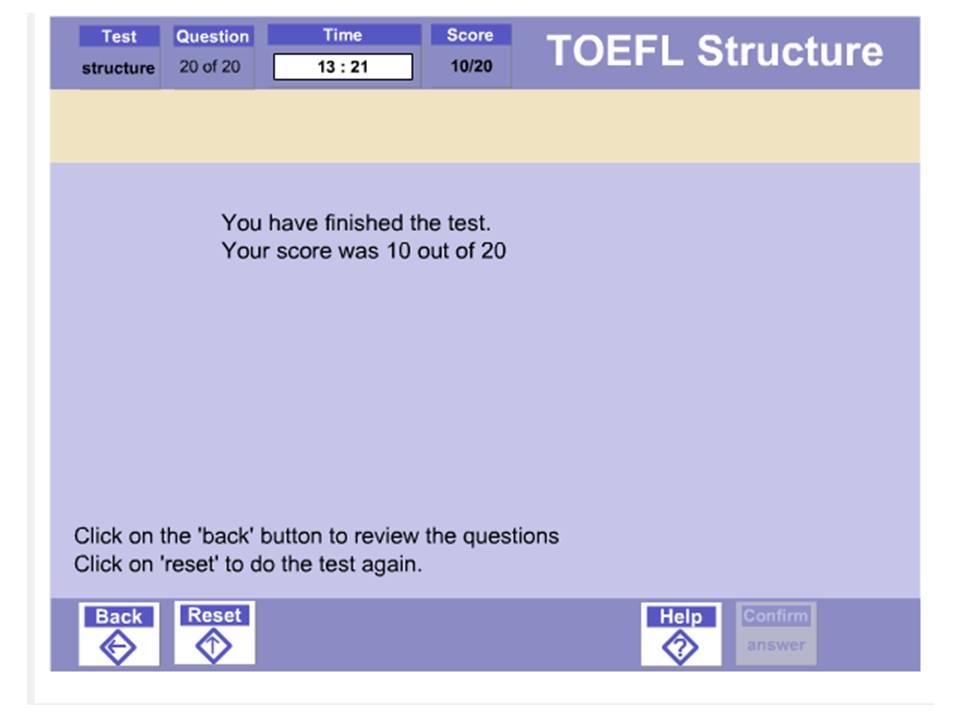 splosh design toefl test practice