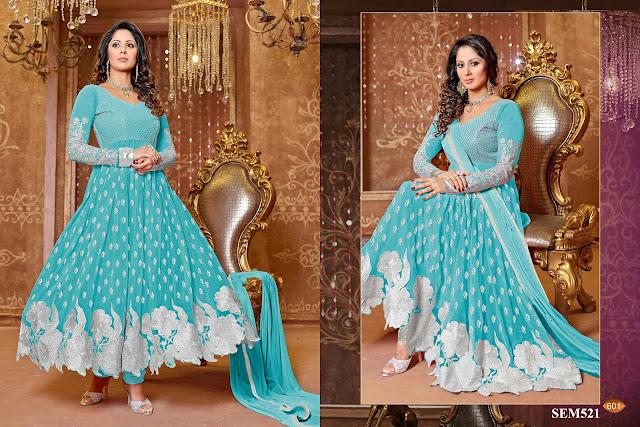 Sangeeta Ghosh Georgette Floor Length Anarkali Suit
