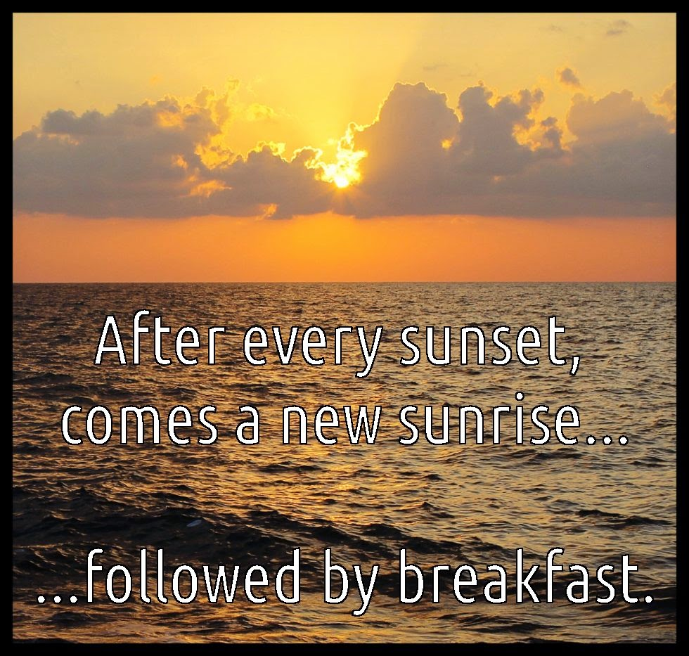 quote meme of sunset