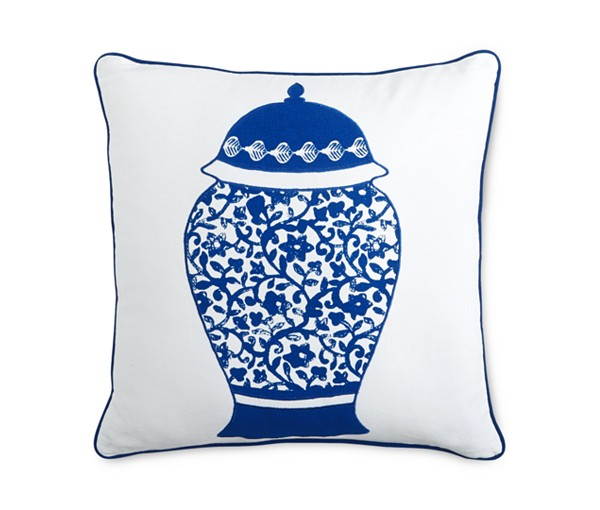 martha stewart indigo collection ginger jar pillow macys on sale