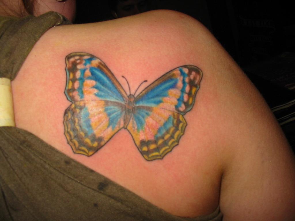 Tattoos back tattoos butterfly back tattoos for women for Butterfly tattoos for women