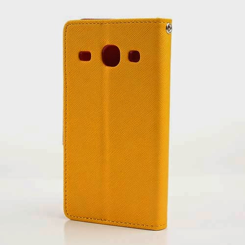 Mercury Goospery Fancy Diary Leather Case for Samsung Galaxy Core I8260 I8262 - Yellow