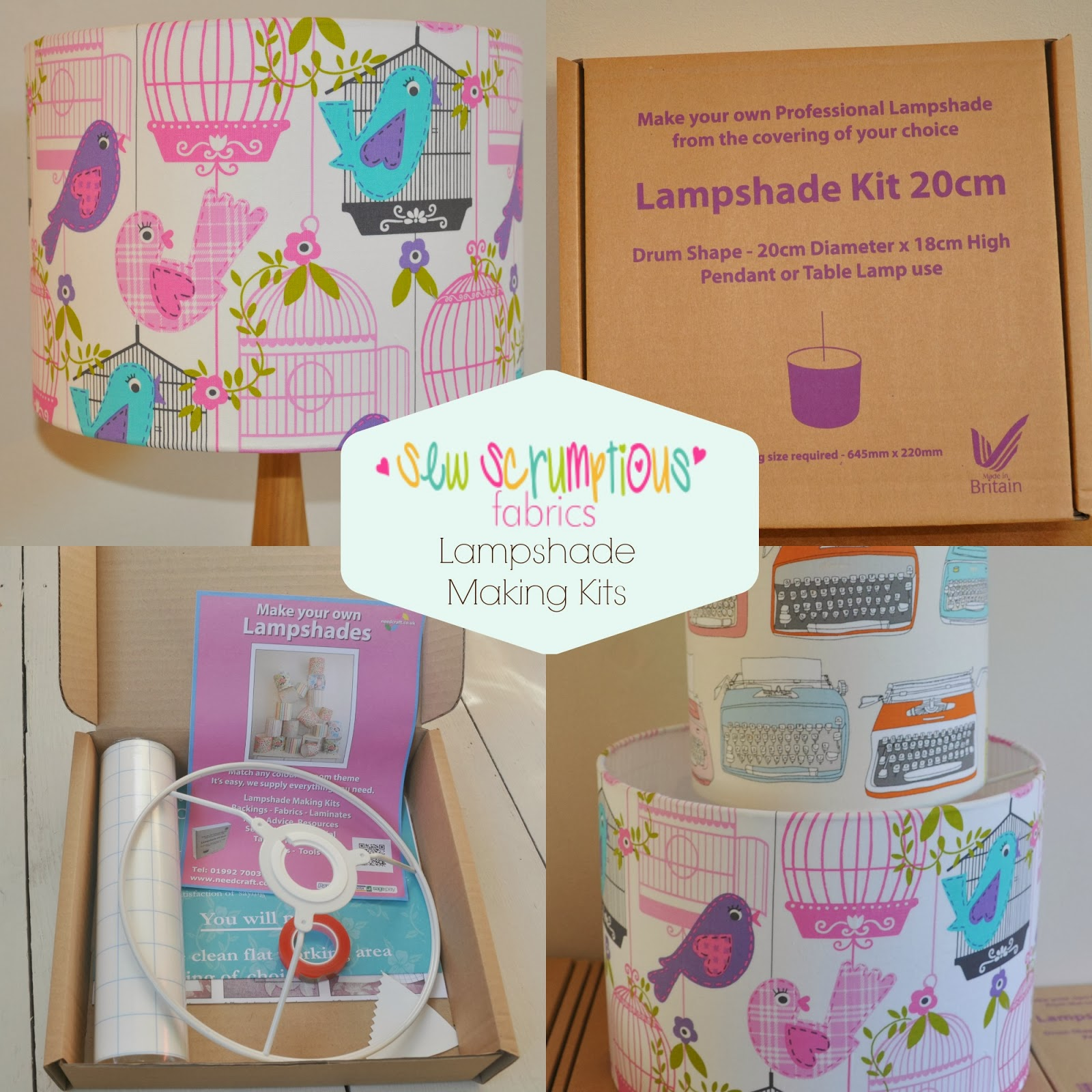 looking lampshade they are so quick and easy to make and involve no sewing prices start from 10 for a 20cm kit and they come boxed ready