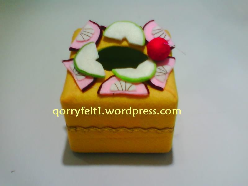 Tempat Tisu Bentuk Kotak Dan Bulat Dengan Hiasan Toping Flanel Cantik